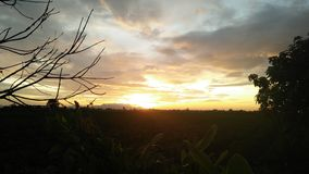 Morning atmosphere. Sky sun cloud stock image