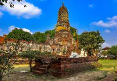 Morning atmosphere, tourist attractions, old capital of Thailand. In Ayutthaya royalty free stock images