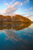 Morning on the autumn lake. Royalty Free Stock Images