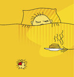 Morning awake. Vector illustration of morning awake Royalty Free Stock Images