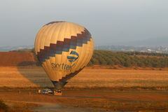 Morning balloon flight Royalty Free Stock Photo