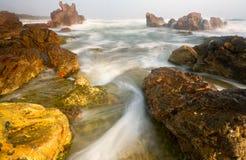 Morning at Banten Indonesia. Serenity and peaceful Morning at Sawarna Beach, Indonesia royalty free stock image