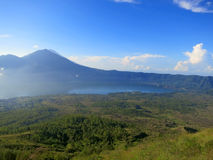 Morning on Batur volcano, Bali, Indonesia Royalty Free Stock Image