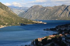 Morning in the Bay of Kotor in Montenegro Royalty Free Stock Photography