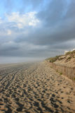 Morning Beach. Misty clouds after a morning storm on the beach at Brant Beach, LBI, NJ Royalty Free Stock Photo
