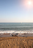 Morning on beach. Royalty Free Stock Images