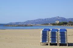 Morning beach Stock Photos