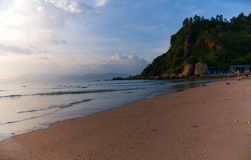The morning beach in China. The morning beach with blue sky  in China Stock Images
