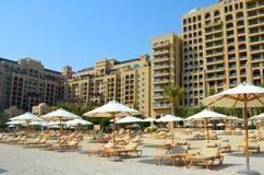 Morning beach club at Dubai Stock Image