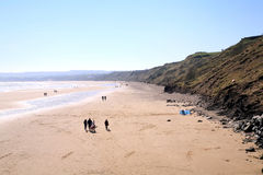 Morning on the beach at Filey. Stock Photos