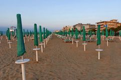 Morning at beach in Lido di Jesolo, Italy Stock Images