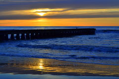 Morning beach pier Royalty Free Stock Images