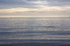 Morning beach sea and sky. Picture Stock Photo