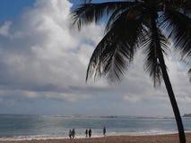 Sunrise beach walk Royalty Free Stock Images