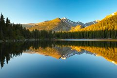 Bear Lake, Colorado. Morning on Bear Lake, Rocky Mountain National Park, Colorado, USA Royalty Free Stock Photography
