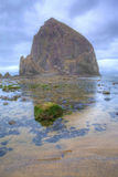 Morning at beautiful Haystack Rock, Oregon Stock Photography