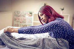 Morning in bed. royalty free stock images