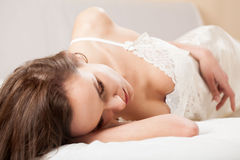 Morning in bed Royalty Free Stock Photography
