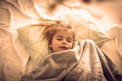 Morning in bed. royalty free stock photo