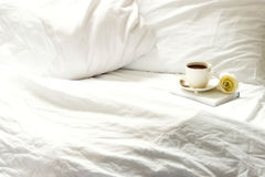Morning in bed Stock Photography