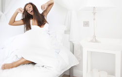 Morning in bedroom Stock Photos