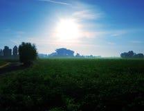 Morning in Belgium. Stock Photo