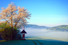 Morning for in Beskid Niski mountains Royalty Free Stock Images