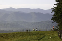 Morning Bike Ride in Cades Cove Royalty Free Stock Image