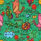Morning bird seamless pattern Royalty Free Stock Photo