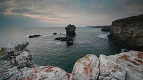 Morning at the Black Sea coast stock video footage