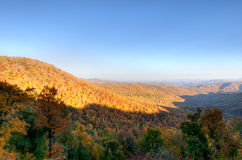 Morning in the Blue Ridge Mountains Royalty Free Stock Photo
