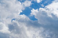 Morning blue sky white cloud. S royalty free stock image