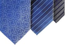 Morning blue ties Stock Photography