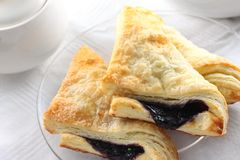 Morning Blueberry Turnover Stock Image