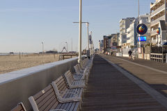 Morning on the Boardwalk in Ocean City, Maryland Royalty Free Stock Photos