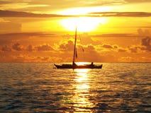 Morning boat Royalty Free Stock Photos