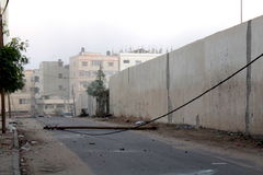 Morning bombing attack on gaza Stock Image