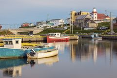 Morning in Bonavista, Newfoundland. St. John`s, Newfoundland and Labrador, Canada royalty free stock image