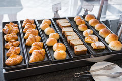 The Morning bread in the hotel Royalty Free Stock Photo