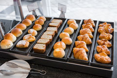 Morning bread in the hotel Stock Photography