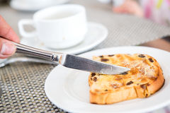 The Morning bread in the hotel Royalty Free Stock Image