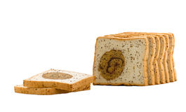 Morning bread with sesame Stock Image