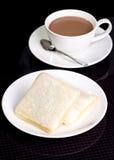 Morning breakfast 2 bread. Picture of Morning breakfast 2 bread Royalty Free Stock Image