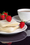 Morning breakfast 2 bread. Picture of Morning breakfast 2 bread Royalty Free Stock Photos