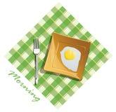 Morning breakfast. On a plate Stock Illustration