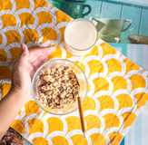 Morning breakfast with Cereal Royalty Free Stock Image