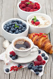Morning breakfast with coffee Royalty Free Stock Image