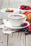 Morning breakfast with coffee Royalty Free Stock Images