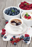 Morning breakfast with coffee Royalty Free Stock Photos