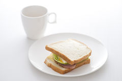 Morning breakfast with a cup of coffee Royalty Free Stock Photography